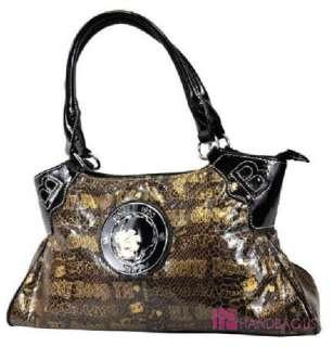 NEW Licensed Betty Boop Snake Skin Handbag Purse Brown