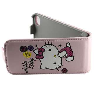 Hello Kitty Flip Leather Case Cover For iPhone 4 4G C2