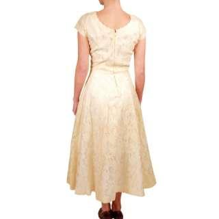 Ivory Chantilly Lace Party Dress Jonathan Logan 1950'S
