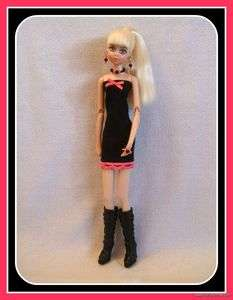 FASHION DRESS + JEWELRY for LOLLIPOP GIRLS DOLL Goth Clothes d4e