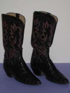 OOAK Anteater Skin Leather Western Cowboy Boot Mens Size 9N