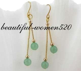 177mm round nature green jade necklace bangle bracelet