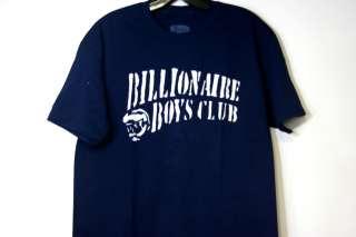 BILLIONAIRE BOYS CLUB T SHIRT STENCIL SZ M 2XL NAVY WHITE BBC T SHIRT