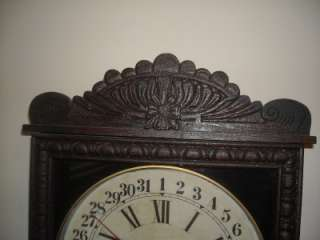 ANTIQUE NEW HAVEN CALENDAR,STRIKE,8D WALL CLOCK TAMPA |
