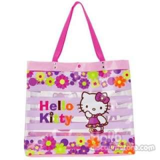 Hello Kitty Beach Clear Vinyl Tote Bag  Flower