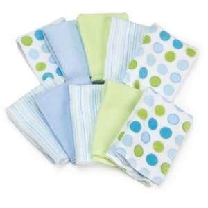10er PACK weiche Baby Waschlappen   blau/grün  Küche