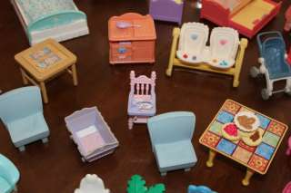 Fisher Price Loving Family Dollhouse LOT~ HUGE ~Cars, People