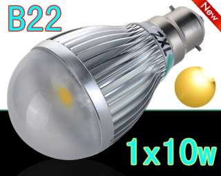 B22/E27 10W Pure/Warm White LED Globe Light High Power Lamp Ball Bulb