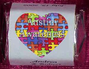 Autism Awareness Puzzle Candy Wrappers Labels Personalized Party