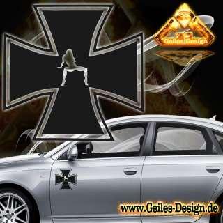 Eisernes Kreuz Iron Cross Sexy Aufkleber Audi BMW VW