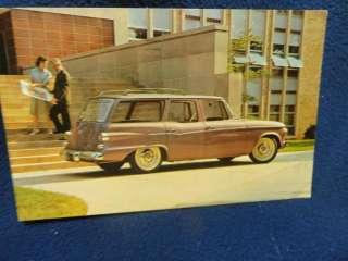 1962 Studebaker Lark Station Wagon. Factory promo postcard. Postmarked