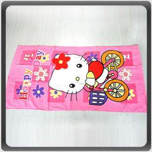 Hello Kitty Beach Pool Pink Cotton Bath Towel/Cloth