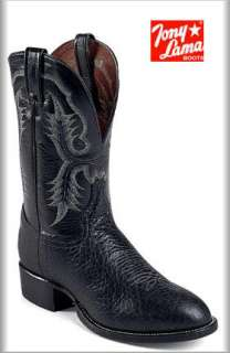 Tony Lama Mens CT2036 Cowboy Black Bullhide Boot 11.5EE