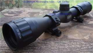 Leapers 4x32 AO PX MilDot Rifle Scope +Sniper Shade, Flip Caps+ Weaver