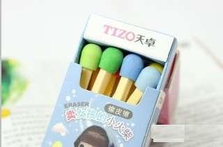 Korean Lovely Creative Match Head Style Eraser Rubber 1box