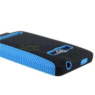Dual Flex Hybrid Accessories TPU Gel Case Cover For HTC Sprint EVO 4G