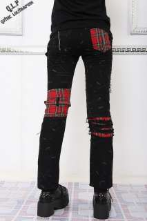 PUNK VISUAL KEI SLIM LOOK MUMMY Red Plaid 71178 PANTS