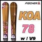 11 12 Fischer KOA 78 Skis 161cm w/V9 NEW