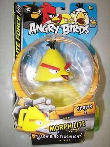ANGRY BIRDS MORPH LITE SERIES 1 LITE FORCE YELLOW BIRD FLASHLIGHT NEW