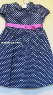 GAP KIDS NAVY BLUE POKADOT DRESS NWT $29.00 4