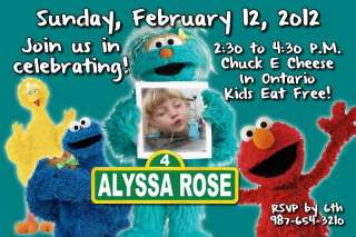 Sesame Street Birthday Invitation PERSONALIZED w/ PHOTO and Thank You