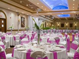 10 Fuchsia Hot Pink Satin Chair Covers Sash Bow Wedding