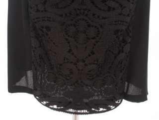 1990 VALENTINO ROMA BLACK LACE DRESS US8 NWT
