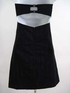 KULSON Black Eyelet Strapless Mini Dress Sz 40