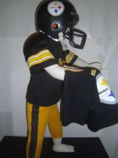Kids Pittsburgh Steelers Football Player Costume Sz. S Small 3 4 5