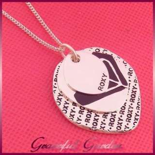 NL0229 Brand New Cool Girl Teens Fashion Roxy Silver Plated 3 Pendant