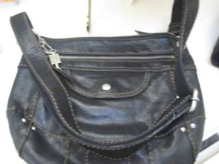FOSSIL Liberty Crossbody Bag Purse BLACK Leather VERY GOOD condition