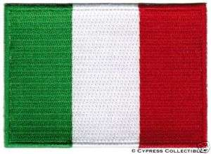ITALY FLAG embroidered iron on PATCH ITALIAN EMBLEM new