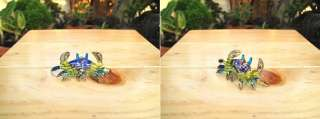 Handmade Sea Crab Art Glass Blown Sea Animal Figurine