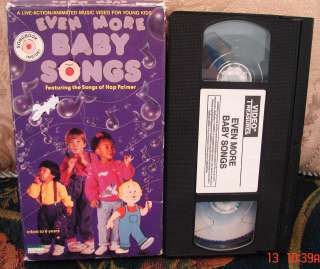 EVEN MORE Baby Songs Video Vhs HAP PALMER RARE HTF Infant 6 Yrs Award