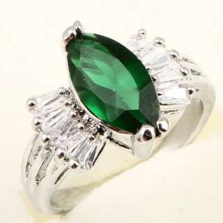 MARQUISE COCKTAIL GREEN EMERALD *A007* Engagement RING