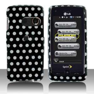 LG Rumor Touch LN510 White Dots Hard Case Cover Phone