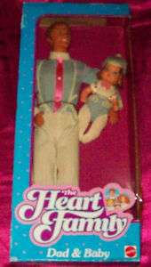 1984 Mattel The Heart Family Dad and Baby Boy #9079