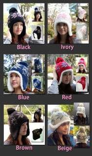 Womens Peruvian Earflap knit BEANIE Ski Snowboard Winter Warm Hat Cap