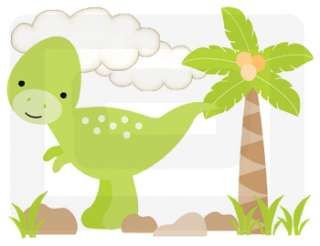 DINOSAUR DINO BABY BOY NURSERY WALL ART STICKERS DECALS