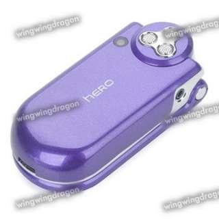 SMALLEST DUAL SIM QUADBAND MINI TIDY FLIP PHONE MP3 PLAYER PURPLE