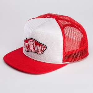 Vans Off The Wall Classic Patch Red White Adjustable Trucker Hat Cap