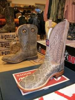 Tony Lama Square toe Rattlesnake Western Boot Style #H2045 NWT