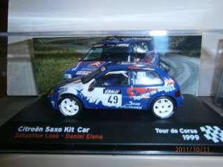 SAXO KIT CAR, TOUR DE CORSE 1999, LOEB , ALTAYA / IXO ,1/43