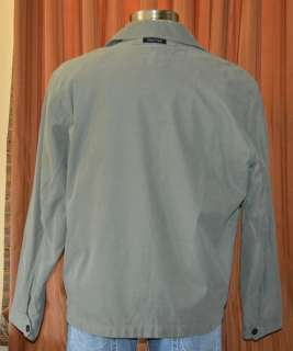 NAUTICA LIGHT GREEN CASUAL OUTERWEAR FULL ZIP COTTON LINED JACKET MENS