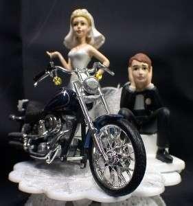 HARLEY Davidson Motorcycle Wedding cake topper Lot Glasses Knife