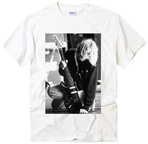 Kurt Cobain Concert nirvana band rock music punk white t shirt