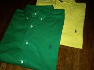 796 Mens Ralph Lauren Oxford Polo Pony Blake Short Sleeve Shirt Lot