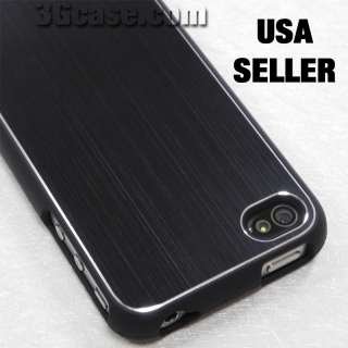 Brushed Black Aluminum 2Piece Case for iPhone 4 4G