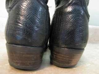 TONY LAMA Ostrich & Os.Leg COWBOY BOOTS Black 10 D