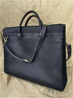 Eddie Bauer Messenger Briefcase Leather Soft Bag Laptop Black Flap 17